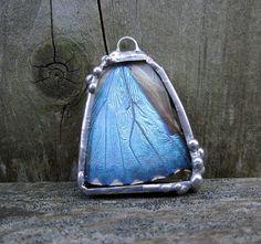 blue morpho pendant