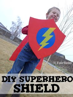 DIY Superhero Shield with Oly-Fun