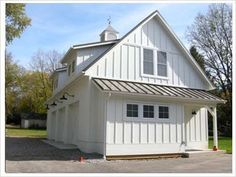 White Dormers Lights Cupola Board And Batten Farmhouse ExteriorModern