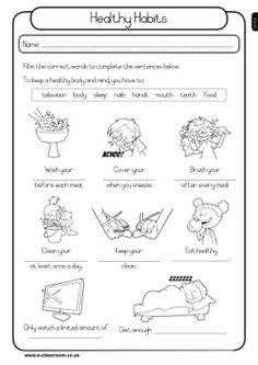 personal hygiene worksheets for kids 1 | Health | Pinterest ...