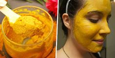 Maschera viso a base di curcuma per eliminare rughe, rosacea, acne e macchie della pelle
