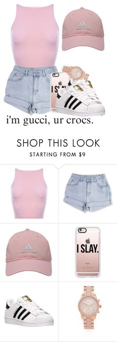 """I might go get me some money"" by trvpgirl-a ❤ liked on Polyvore featuring adidas Golf, Casetify, adidas and Michael Kors"