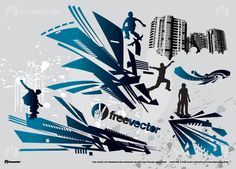 Parkour and Skate Action Vector Silhouettes