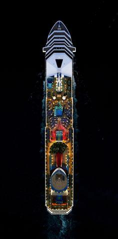 Jeffrey Milstein et ses bateaux de croisière vus du ciel Photo