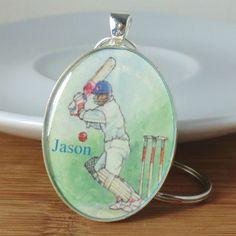 Key Ring Cricket Sport Hobby Personalised £6.00