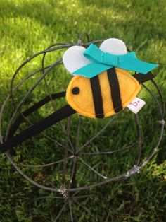 Baby Bumble Bee Baby / Toddler Headband by letterbdesigns on Etsy