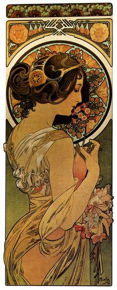 Alfons Mucha - La Primevère (1899)