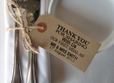Wedding Napkin HolderRustic Wedding Table by IzzyandLoll on Etsy, £39.00