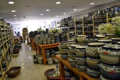 Shopping Polish pottery. Great blog about living in Poland