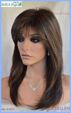 Details about Dixie Classique Estetica Wig Chestnut/Ash Brown Blend Long Layered Haircuts For Long Hair, Long Layered Haircuts, Long Hair Cuts, Extensions Ombre, Ombre Hair Extensions, Medium Hair Styles, Short Hair Styles, Great Hair, Balayage Hair