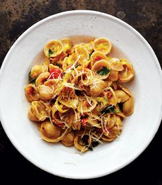 Warming, wonderful winter fare: Squash Blossom Orecchiette with Aged ...