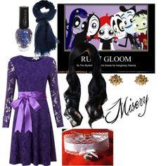 """Misery (ruby gloom)"" by deadlittlegirl on Polyvore"