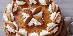 Ginger Snap Pumpkin Pie with Ginger Cream