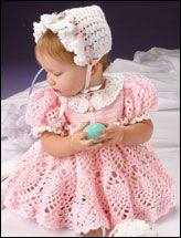 Sweet Baby Outfit      Technique - Crochet    Stitch an adorable Easter outfit for your baby girl. Size: 12-18 month.