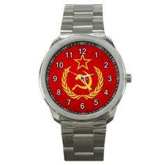USSR CCCP Soviet Union Logo Symbol Watch - Free Shipping