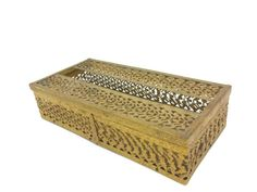 Vintage Tissue Box Cover Tarnished Metal Ornate by EclecticEmbrace