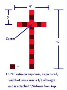 DIY: Build your cross for outdoor wedding.How to Obtain the Correct Proportions when Building a Cross for your wedding. Wooden Crosses, Wall Crosses, Woodworking Projects Diy, Wood Projects, Fun Projects, Unity Cross, Wedding Cross, Church Wedding, Church Stage Design
