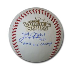 "Autographed Daniel Nava 2013 World Series baseball inscribed ""2013 World Series Champs"""