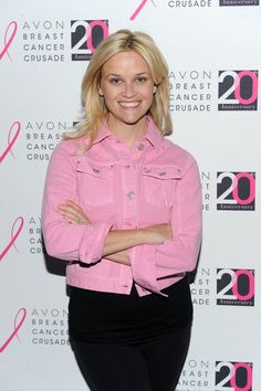 Pin for Later: See the Stars Fighting For a Breast Cancer Cure  Reese Witherspoon wore a pink jacket for the Avon Walk for Breast Cancer event in NYC in October 2011.