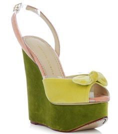 Meridith Wedges by Charlotte Olympia #MatchesFashion