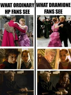I always loved to imagine that Draco and Hermione had a thing for each other.