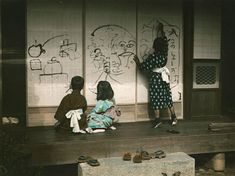Eliza Scidmore Photographed Everyday Life in Japan Over 100 Years Ago Old Pictures, Old Photos, Vintage Photos, Cherry Blossom Tree, Blossom Trees, Le Vent Se Leve, Japan Image, Drawing For Kids, Children Drawing