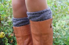 Hand knit Boot Cuffs Knitted Boot Cuffs Wool Boot by luludress