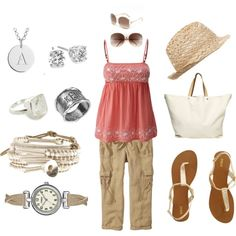 Summer Casual Outfit, created by thesterlingcharm on Polyvore