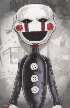 Five Nights at Freddy's Marionette Poster Print by ChrisOzFulton