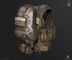 ArtStation - new model for crytek (soldier vest), Denis Didenko