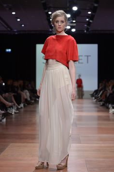 Wellington Fashion Week 2014 'Scarlet' by Rebecca Robbie Scarlet, Lace Skirt, Skirts, Fashion, Moda, Skirt Outfits, Fasion, Trendy Fashion, Skirt