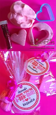 HoneyBops: Valentine's Day Playdough and FREE Printable Tags