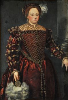 Anonymous artist active in the 16th century in Italy - Portrait of a Lady