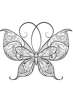Heres A Fun Coloring Book For Adults Butterfly Pages