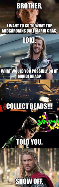 This is probably THE best meme I have seen!! Loki loves Mardi Gras!! Hollaaaaa =] ♥.