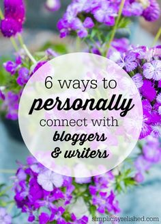 Wondering whether you can connect further with your favorite blogger or writer? Here are 6 in-roads to creating real, genuine interaction! If you are a writer or blogger, this is how you can make yourself more approachable for your readers! Read more: How to Personally Connect with Bloggers and Writers