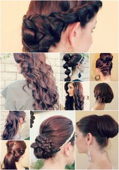 Great ideas for long hair.
