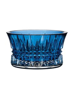 "Waterford Crystal ""Lismore Diamond"" Sapphire Nut Bowl"