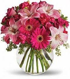 Lilies and gerberas