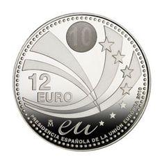 Moneda conmemorativa 12 euros 2010., Tienda Numismatica y Filatelia Lopez, compra venta de monedas oro y plata, sellos españa, accesorios Leuchtturm