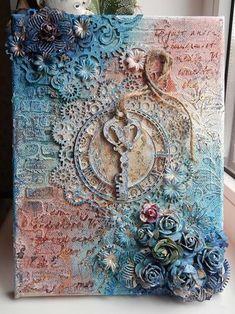 Stampo in Silicone 12,7 x 20,3 cm Ala e Medaglione Motivo PRIMA Finnabair