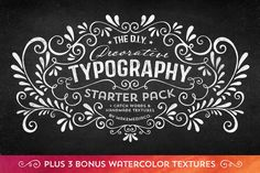 diy decorative typography pack