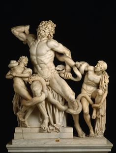Laocoon and His Sons, Greek Hellenistic (most likely 42 - 20 BC), Vatican…