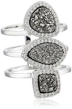 Marcia Moran Vertical Multi-Band Cubic Zirconia Surrounding Assorted Stones Ring special savings deal  Marcia Moran special savings deal