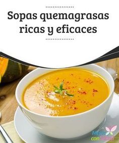 These recipes for diet soups are sure to help you lose weight while fighting off the cold. Discover 5 healthy soup recipes to help you lose weight. Healthy Soup Recipes, Vegetarian Recipes, Cooking Recipes, Healthy Foods, Sopas Light, Sopas Low Carb, Comidas Light, Fat Burning Soup, Diet Plan Menu