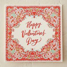 Lace Edged Valentine Card