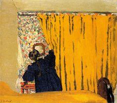 Edouard Vuillard - the yellow curtain