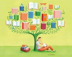 Biblioteca, llibres i lectura: il·lustracions de Sarah Wilkins / Biblioteca, libros y lectura / Library, books and reading: illustrations by Sarah Wilkins I Love Books, Books To Read, My Books, Reading Art, I Love Reading, Reading Quotes, Book Tree, Book People, Library Displays