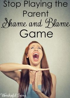 This game we parents are playing needs to stop. Shame and Blame are not things we should be casting on other parents. We have all - and will…