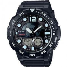 a4e3d3cac240 Relógio Casio Masculino AEQ-100W-1AVDF Reloj Casio